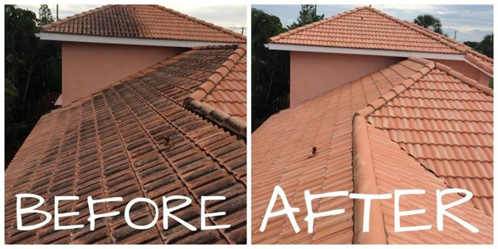 Flat Tile Roof Cleaning Treasure Coast Pressure Cleaning